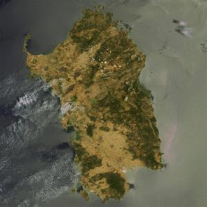 Satellite picture of Sardinia