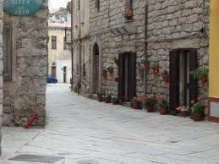 In Tempio centre, traditional granite houses