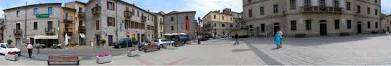 one of Tempio' piazza in panoramic view.