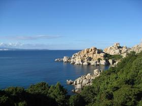 Capo Testa coast