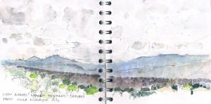 View across valley towards Sassari from Villa Nuraghe