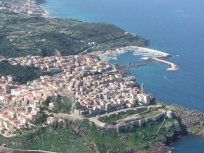 Another aerial view from castelsardo and its coastline.