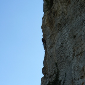 Me on the only and long vertical (more than 20 metres)